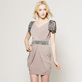 TS Nude Sophisticated Belted Dress