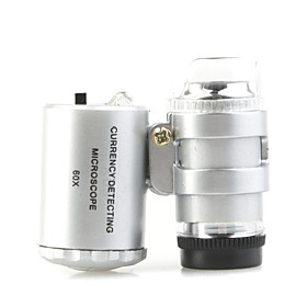 60X Microscope Loupe LED Magnifier  Currency Detecting