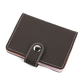 Elegant Leather Business Card Case (Brown)