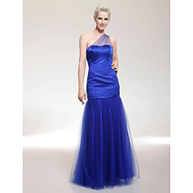 Tulle Trumpet/ Mermaid One Shoulder Floor-length Evening Dress inspired by Mandy Moore at Golden Globe Award
