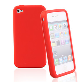 Silicone Protective Case for iPhone4 (Random Color)