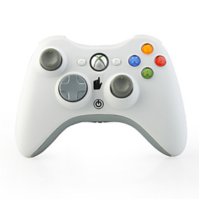 Wireless Game Controller with Receiver for XBox 360 White