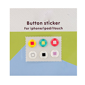 Home Button Stickers for iPhone/iPad/iTouch (6 Pack)