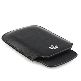 Protective PU Leather Case for Blackberry 9800 Black