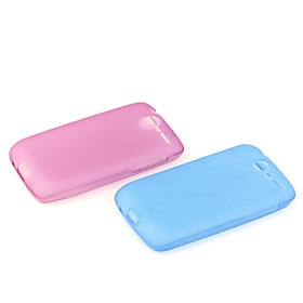 Clear Frosted TPU Skin Case for HTC Desier Color Random