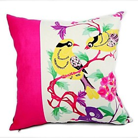 cushion cover-paper  cut bird (1422)