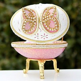 Pinky Butterfly Design Musical Jewelry Box