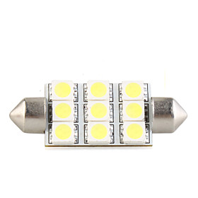Dome 9 LED SMD Interior Bulb Light 42mm