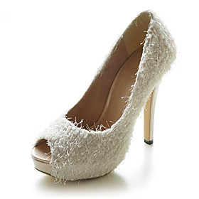 Velvet Upper Stiletto Heel Pumps Wedding Shoes.More Colors Available