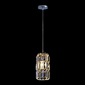 Contemporary Chrome Finish Crystal Pendant Lights