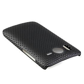 Mesh Hard Back Cover Case for HTC Desier Black