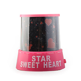 Romantic Sweet Hearts and Lovers Projector Bedroom Night Light (110-240V/3xAA)