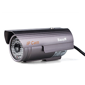 Outdoor Wired Waterproof Box IP Camera CMOS 0.3 megapixel   M-JPEG 36?5 36 LED lights IR distance:25m
