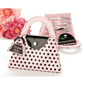 Pink Manicure Set in Purse