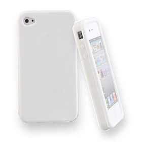 Silicone Protective Case for iPhone 4 (White)