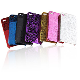 Waterdrop Pattern Plated Protective Case for iPhone 4 (5 Pack, Random Colors)