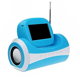 2011 New Portable USB Rechargeable MP3 Mirror speaker with FM/SD/USB/AUX(Blue)