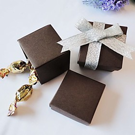 Square Favor Boxes-Chocolate(set of 24)