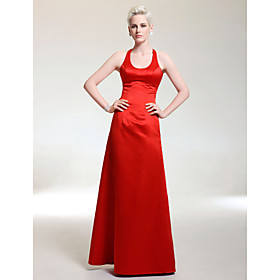 Satin Sheath/ Column Scoop Floor-length Evening Dress inspired by Jennifer Lawrence at the 83rd Oscar