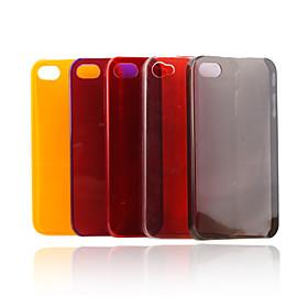 Crystal Hard Back Case for iPhone4 (5 Pack,Random Colors)