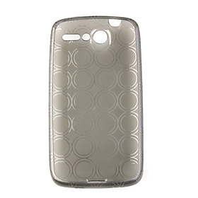 Circle Pattern Protective TPU Case for HTC Desier Black