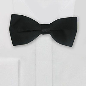 Black Satin Dyed Bow Tie Groom Wear Accessories
