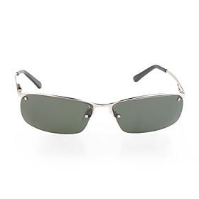 UV400 Resin Polarized Glare-Guard TAC Alloy Frame Driving Sunglasses(Sliver)