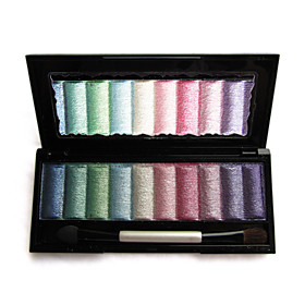 Soft Shimmer Eye Shadow Palette with Free Brush NO.2 (10 Colors)