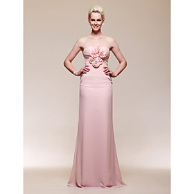 Chiffon Trumpet/ Mermaid Sweetheart Floor-length Evening Dress inspired by Naya Rivera at Golden Globe Award
