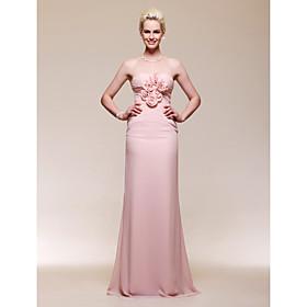Chiffon Trumpet/ Mermaid Sweetheart Floor-length Evening Dress inspired by Naya Rivera at Golden Globe Award