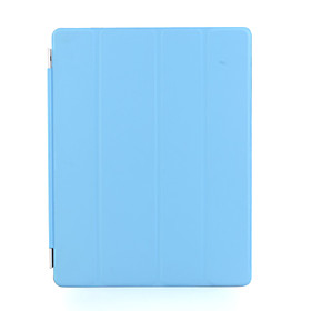 Coolest Protective Auto Wake-up/Sleep Leather Cover for iPad 2 - Blue