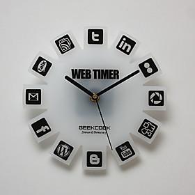 Web 2.0 Theme Wall Mounted PMMA Analog Clock