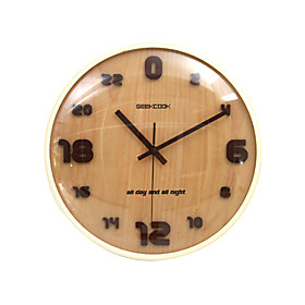 24 Hours Wooden Wall Clock