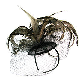 Elegant Fascinator With Feather Weddding/Partying/Honeymoon Headdress Flower