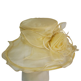British Style Organza With Flower Wedding/Partying/Honeymoon Lierihattu Hat