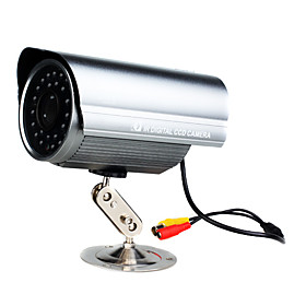 IR Waterproof 1/4''SHARP CCD Camera     Night vision IR range:50m/Backlight Compensation, Automatic Iris Control