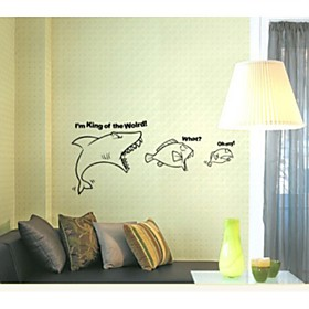 Shark Decorative Wall Sticker(0565-1105066)