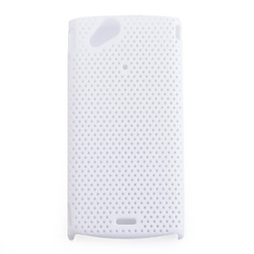 Net sharp protective cell phone case for Sony Ericsson X12(white)
