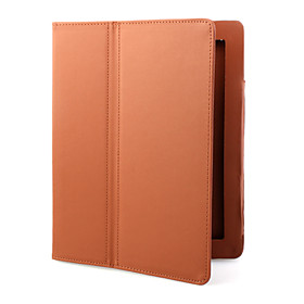 Protective PU Leather Case with Stand for iPad 2(Brown)