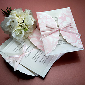 Petal Patterned Wedding Invitation(set of 50)