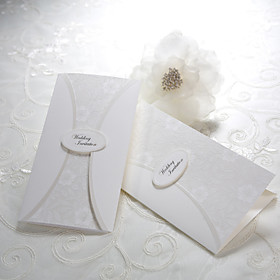 Classic Embossed Wedding Invitation(set of 50)