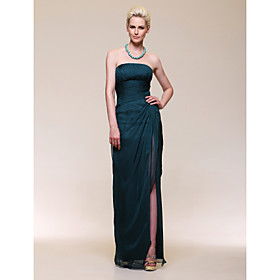 Chiffon Sheath/ Column Strapless Floor-length Evening Dress inspired by Rachel Weisz