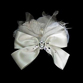 Gorgeous Satin With Rhinestones/ Imitation Pearls Wedding Bridal Headpiece