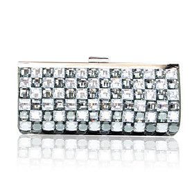Gorgeous Satin With Acrylic Jewels Evening Handbags/ Clutches More Colors Available