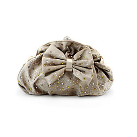 Gorgeous Silk Shell With Shining Rhinestones Evening Handbags/ Clutches More Colors Available