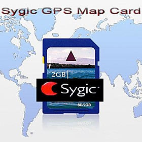 Original Brand Sygic GPS Map Card, With 2GB Standard SD Card