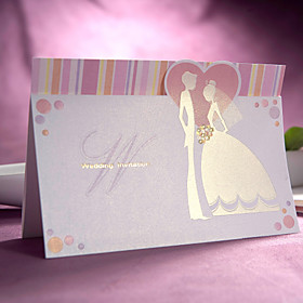 Sweet Bride and Groom Design Wedding Invitation(set of 50)