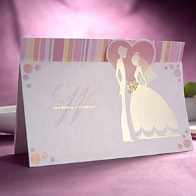 Sweet Bride and Groom Design Wedding Invitation(set of 50)