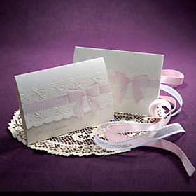 Ribbon Bow Pattern Wedding Invitation(set of 50)