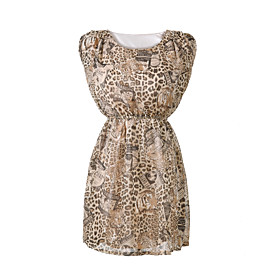Leopard and Stamp Print Dress
